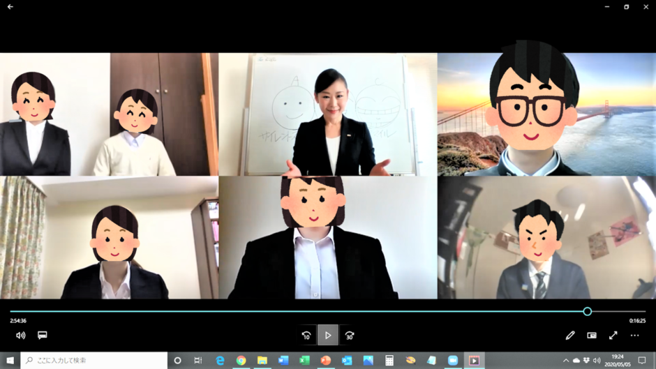 3級オンライン講座風景Be-QOLe豊田京子